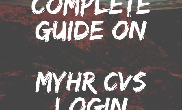 MyHR CVS Login