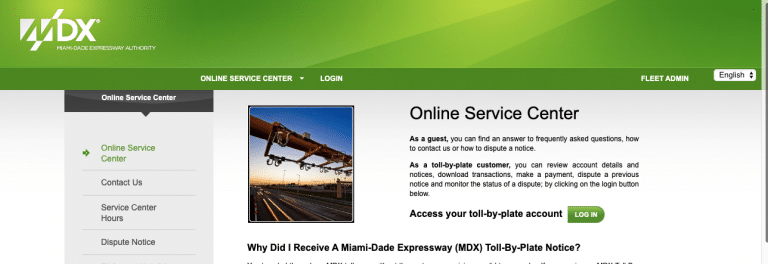 Paymdxtolls Login – MDX Tolls Payments at www.Paymdxtolls.com