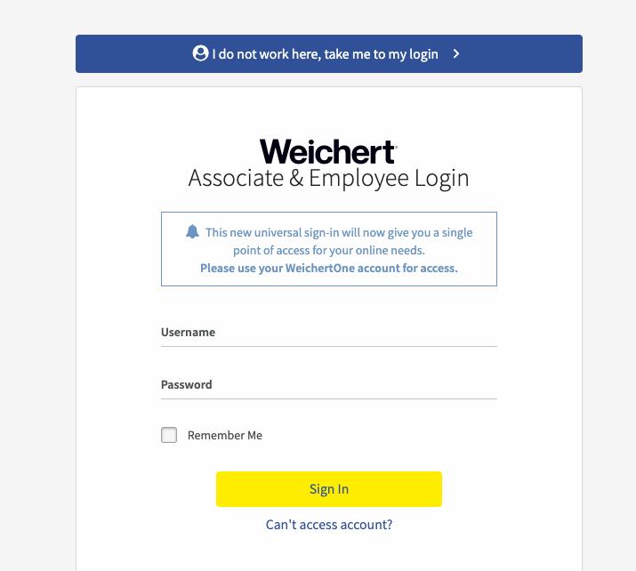 Weichertone Login – www.weichertone.com Weichert Employee Sign in
