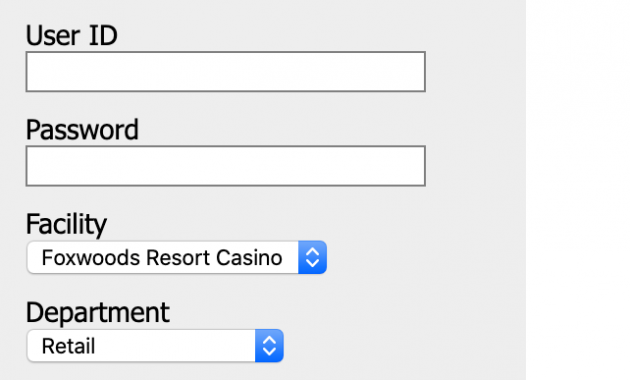 Foxwoods Scheduling login