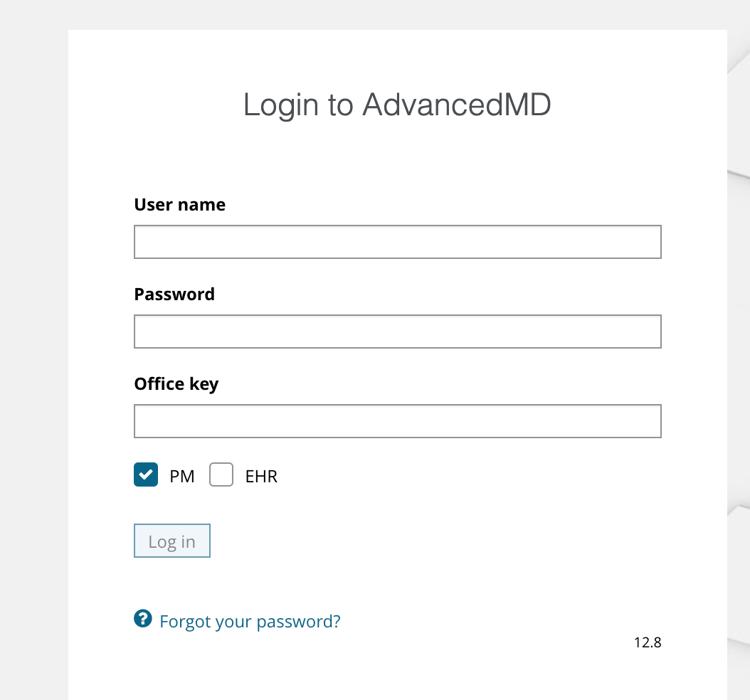 AdvancedMD login
