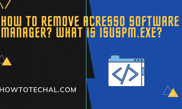 How to Remove Acresso Software Manager