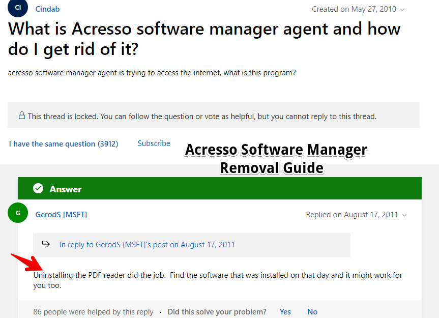 Acresso Software Manager Remove