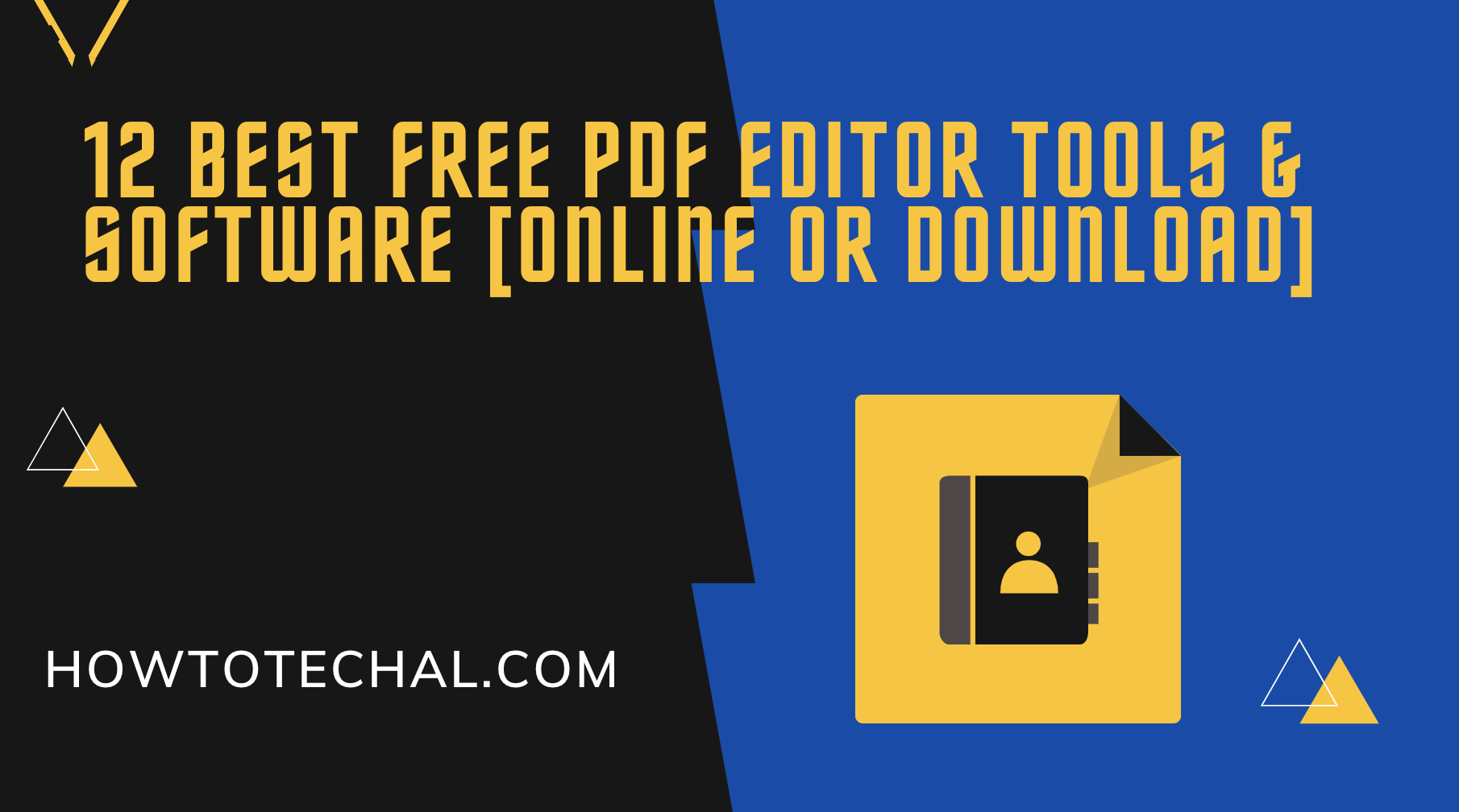 12 Best Free PDF Editor Tools & Software [Online Or Download]