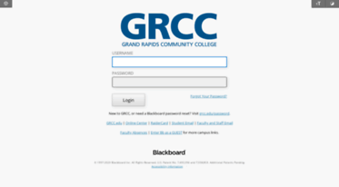 GRCC Blackboard – grcc.edu Blackboard Student Login