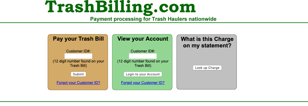 Trashbilling -www.trashbilling.com Login & Pay Bills Online