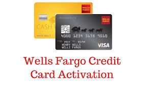 wells fargo activate card