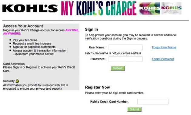 MyKohlscard