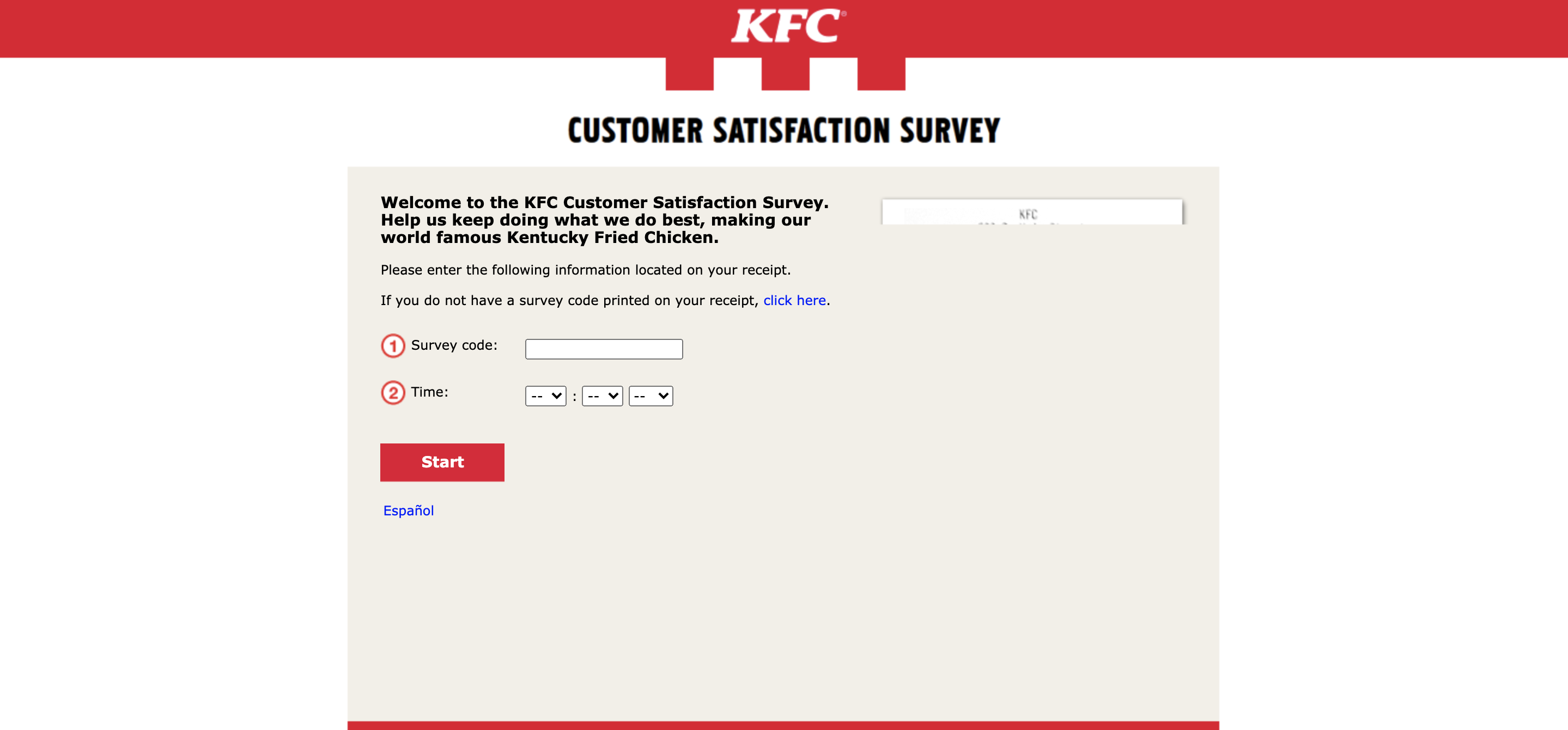 MyKFCExperience Survey at www.mykfcexperience.com Official