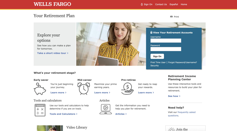 Wells Fargo Retirement Login