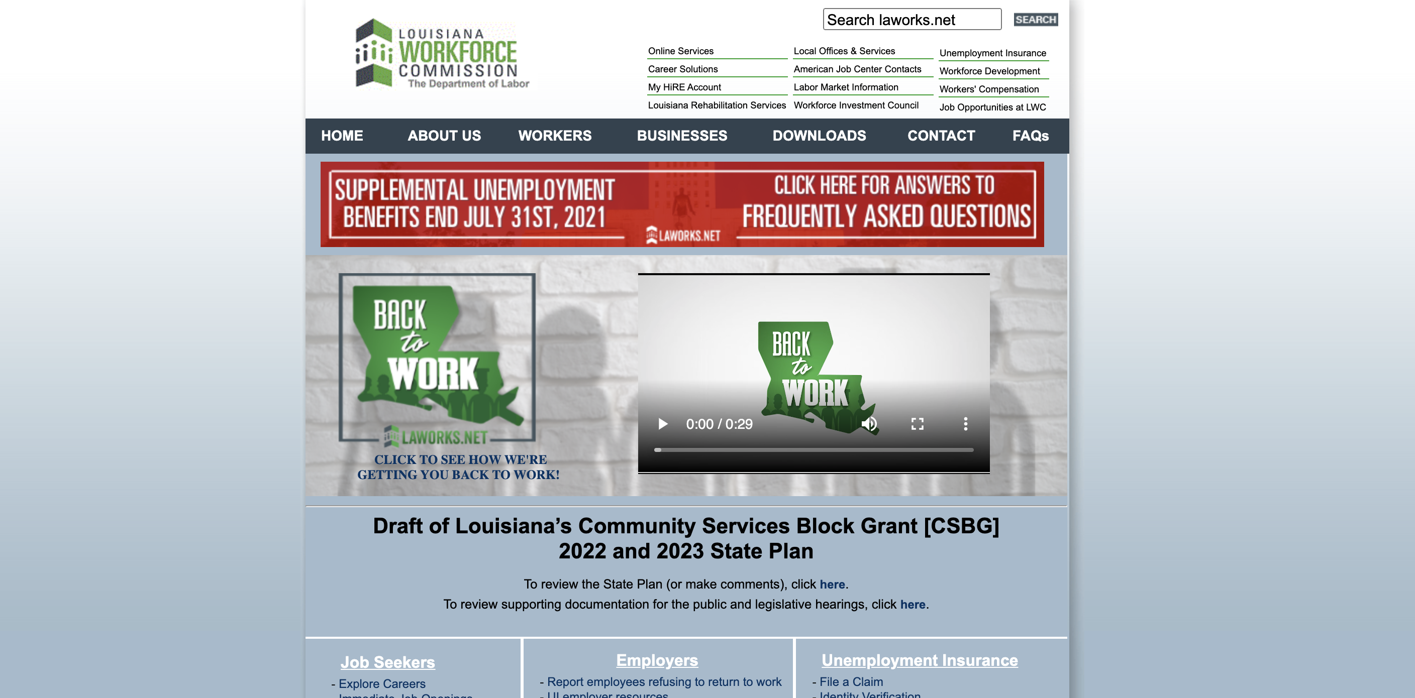 Laworks Hire Login – Louisiana Workforce Commission Sign in