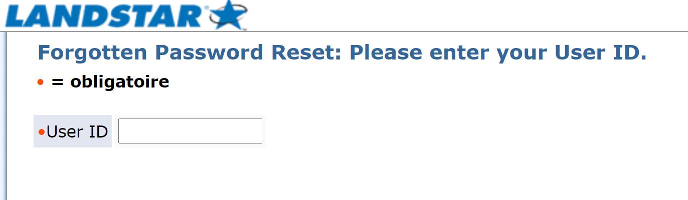 landstar forgot password