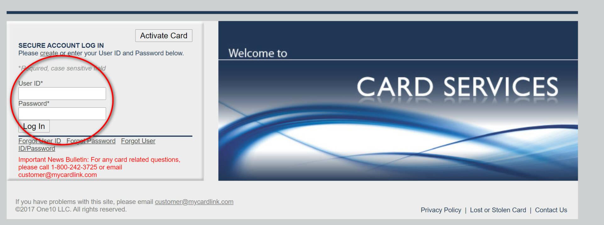 mycardlink login
